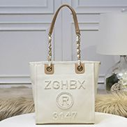 Alison Beach Shopping Small Tote Cream