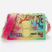Angela Shoulder Bag Vegan Leather Graffiti