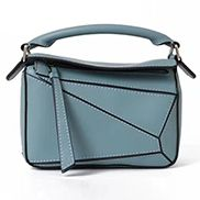 ADRIENNE MINI GEOMETRY LEATHER BAG LIGHT BLUE