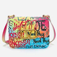 Ariadna Shoulder Small Bag Vegan Leather Graffiti