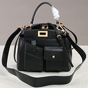 Carrie Leather Bag With Pocket Black