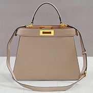 Carrie Leather Bag With Gold Hardware Beige