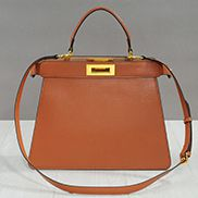 Carrie Leather Bag With Gold Hardware Camel
