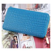 DAKOTA PURSE WALLET CROC EFFECT LEATHER BLUE