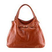 As Seen In Magazines Leather Hobo Brown
