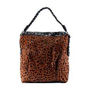 Audacity Patent Leather Tote Leopard