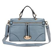 Dolores Leather Shoulder Bag Blue