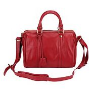 Eleonora Cowhide Leather Keepall Bag Red