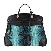 Grace Snake Skin Bag Blue