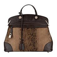 Grace Snake Skin Bag Brown