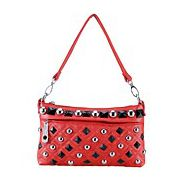 Hayden Small Studded Red Clutch
