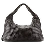 La Scalla Woven Hobo Brown