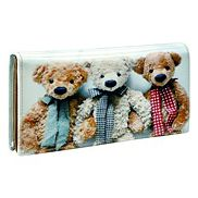 Teddy Bears Brothers Continental Wallet Blue