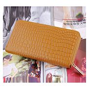 DAKOTA PURSE WALLET CROC EFFECT LEATHER BEIGE