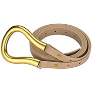 HORSESHOE BUCKLE BELT BEIGE