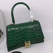 Bonnie Croc Leather Shoulder Bag Green