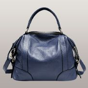 Brittany Leather Shoulder Bag Blue