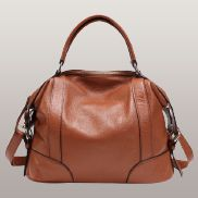 Brittany Leather Shoulder Bag Brown