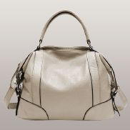Brittany Leather Shoulder Bag Cream