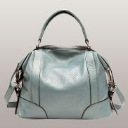 Brittany Leather Shoulder Bag Light Blue