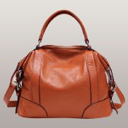 Brittany Leather Shoulder Bag Orange
