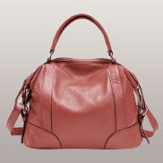 Brittany Leather Shoulder Bag Watermelon Red