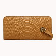 The Coralie Wallet Croc Leather Tan