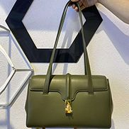 Camille Leather Shoulder Bag Green