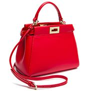 Carrie Smooth Leather Mini Bag Red