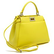 Carrie Smooth Leather Mini Bag Yellow