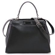 Carrie Leather Bag With Black Hardware Black