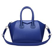 Christi Smooth Leather Medium Bag Dark Blue