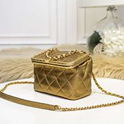 Claire Leather Shoulder Bag Gold