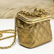 Claire Leather Shoulder Mini Bag Gold