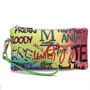 Clutch Bag Vegan Leather Graffiti