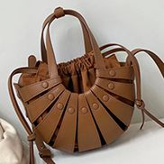 The Coquille Leather Shoulder Bag Brown