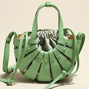 The Coquille Leather Shoulder Bag Green