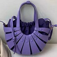 The Coquille Leather Shoulder Bag Purple