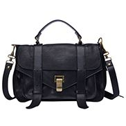 The Cartable Leather Bag Black
