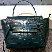 Debbie Top Handle Croc Bag Green