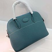 Danielle Leather Shoulder Bag Blue