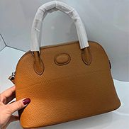 Danielle Leather Shoulder Bag Brown