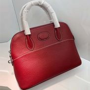 Danielle Leather Shoulder Bag Burgundy