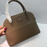Danielle Leather Shoulder Bag Grey