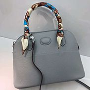 Danielle Leather Shoulder Bag Light Blue