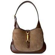 Daphne Suede Leather Shoulder Bag Brown