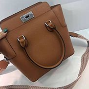 Deborah Leather Shoulder Bag Brown