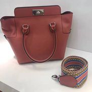 Deborah Leather Shoulder Bag Burgundy