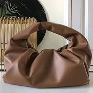 Dina Leather Shoulder Hobo Bag Brown