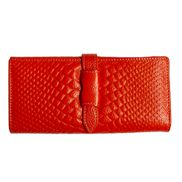 Cameron Long Wallet Croc Effect Orange